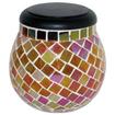 Smart Solar - Glass Mosaic Solar T-Light Pearlesque Amber