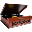 Pyle - Vintage Style Phonograph/Turntable with USB-to-PC Connection (Mahogany) - Mahogany