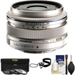 Olympus - M.Zuiko 17mm f/1.8 Digital Lens with 3 UV/ND8/PL Filters + Accessory Kit - Silver