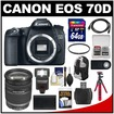 Canon - Bundle EOS 70D Digital SLR Camera Body