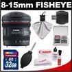 Canon - Bundle EF 8-15mm f/4.0 L USM Fisheye Zoom Lens