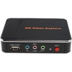 AGPtek - 1080P HD Game Capture HD Video Capture HDMI / YPBPR Recorder Xbox 360 360E 360S Xbox One PS3 PS4 - Black
