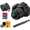 Nikon - Bundle D3200 24.2 MP CMOS Digital SLR Camera - Black