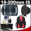 Canon - Bundle EF-S 18-200mm f/3.5-5.6 IS Zoom Lens w/ Backpack