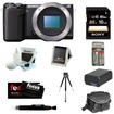 Sony - Bundle NEX-5T 16 MP Compact Interchangeable Lens Digital Camera with NFC and Wifi sharing - Black