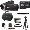 Sony - Bundle HDR-CX330 Full HD Handycam Camcorder - Black