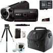 Sony - Bundle 8GB HDR-PJ275 Full HD Handycam Camcorder with Built-in Projector - Black