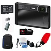 Sony - Bundle DSC-TX30/B 18 MP Digital Camera with 5x Optical Image Stabilized Zoom and 3.3-Inch OLED - Black