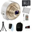Sony - Bundle DSC-QX10/W Smartphone Attachable Lens-Style Camera 4.45-44.5mm Interchangeable Lens for Cameras