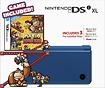 Nintendo - Nintendo DSi XL (Midnight Blue) with Mario vs. Donkey Kong: Mini-Land Mayhem