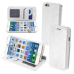 Insten - Leather Folio Wallet Stand Cover Case for iPhone 6 - White