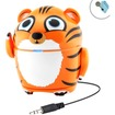 GOgroove - Groove Pal Junior Tiger Portable Multimedia Music Speaker - Works with Samsung Media Devices - Orange