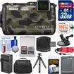 Nikon - Shock+Waterproof Wi-Fi GPS Camera+32GB+Case+Batt+Tripod+Strap+Suction Cup+Car Dashboard Mount Kit - Camouflage