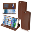 Insten - Magnetic Flap Wallet Stand Leather Case Cover for iPhone 6 - Brown