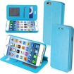 Insten - Magnetic Flap Wallet Stand Leather Case Cover for iPhone 6 - Blue
