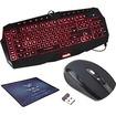 Image - Bundle 3 Colors Blue/Red/Purple LED Multimedia Backlit Gaming Keyboard Programmable Macro Keys Keyboard