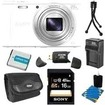 Sony - Bundle DSC-WX300/B 18.2MP Digital Camera with 20x Opt. Image Stabilized Zoom - White