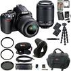 Nikon - Bundle D3100 dx-format Digital SLR Outfit w/ 18-55 VR & 55-200mm Dx VR Zoom Lenses