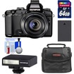 Olympus - Stylus 1 Digital Camera with 28-300mm f/2.8 Lens with 64GB Card+Battery+Case+Flash+Accessory Kit - Black