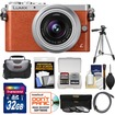 Panasonic - Lumix DMC-GM1 Micro Four Thirds Digital Camera+12-32mm Lens +32GB Card+Case+Tripod+3 Filters+Kit - Orange