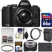 Olympus - Micro 4/3 Digital Camera+14-42mm II R Lens (Black)+64GB Card+Case+Battery+Charger+Filter+Acc - Black
