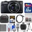 Canon - PowerShot SX700 HS Wi-Fi Digital Camera +32GB Card+Case+Flash+Battery+Tripod+HDMI Cable Kit - Black