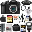 Panasonic - 4K Micro Four Thirds Digital Camera Body+15mm Pancake Lens+64GB Card+Battery+Case+Tripod+Flash+Kit - Black
