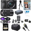 Sony - Bundle Alpha a6000 24.3MP Camera with 16-50 and SEL 55-210 Lenses 32GB Kit - E1SNILCE6000LB
