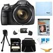 Sony - Bundle DSC-H400/B 63x Optical Zoom 20.1MP HD Video Digital Camera Kit - E1SNDSCH400B