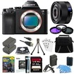 Sony - Bundle ILCE-7S/B a7S Full Frame Camera, 35mm Lens, 64GB SDHC Card, 2 Batteries - E7SNILCE7SB
