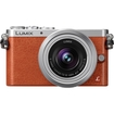 Panasonic - Lumix 16 Megapixel Mirrorless Camera with Lens (Body with Lens Kit) - 12 mm-32 mm Lens - Orange