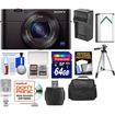 Sony - Cyber-Shot DSC-RX100 III Wi-Fi Digital Camera w/ 64GB Card+Battery+Charger+Case+Tripod - Black