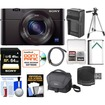 Sony - Cyber-Shot DSC-RX100 III Wi-Fi Digital Camera w/ 64GB Card+Battery+Charger+Case+Tripod+Kit - Black