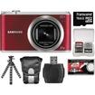 Samsung - WB350 Smart Wi-Fi Digital Camera w/ 16GB Card+Case+Flex Tripod+Acc Kit - Red