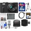 Panasonic - Lumix DMC-ZS40 Wi-Fi GPS Digital Camera w/ 32GB Card+Case+Flash+Battery+Tripod+Kit - Black