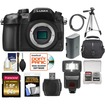 Panasonic - Lumix DMC-GH4 4K Micro Four Thirds Digital Camera Body w/ 64GB Card+Battery+Case+Tripod+Flash+Acc