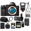 Sony - Alpha A7S Digital Camera Body w/ VG-C1EM Grip+64GB Card+Case+Battery+Tripod+Flash+Acc Kit