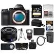 Sony - Alpha A7S Digital Camera Body w/ Sonnar T* FE 35mm f/2.8 ZA Lens+64GB Card+Case+Flash+Battery+Tripod