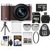 Samsung - NX3000 Smart Wi-Fi Camera+20-50mm Lens+Flash+32GB Card+Backpack+Battery+Flex Tripod+Tele/Wide Lens - Brown