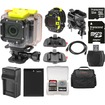 Coleman - Wi-Fi HD Video Action Camera+LCD Watch Remote+Handlebar Bike+Adhesive Mounts+32GB+Batt+Charger+Case