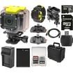 Coleman - Conquest2 Wi-Fi HD Video Action Camera+LCD Watch Remote+Handlebar Bike+Adhesive Mounts+32GB+Batt
