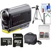 Sony - Action Cam HDR-AS20 Wi-Fi 1080p HD Video Camera Camcorder w/ 32GB Card+Battery+Case+Tripod+Acc Kit