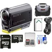 Sony - Action Cam HDR-AS20 Wi-Fi 1080p HD Video Camera Camcorder w/ 32GB Card+Handlebar Bike Mount+Battery