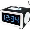 GOgroove - SonaVERSE CRK Alarm Clock & Multimedia Speaker w/ LED Display - Works with Apple iPad mini & More - White