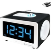 GOgroove - SonaVERSE CLK LED Alarm Clock Stereo Speaker with AUX-In - Works with Apple iPod Touch & More - White