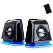 GOgroove - BassPULSE 2MX Portable Laptop Speakers w/ Plug-n-Play Design - Works w/ HP Pavilion & More Laptops - Black