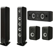 Boston Acoustics - M340 5.0 Home Theater Speaker System - M340, M25B & MCenter - Black