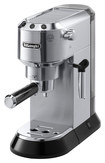 DeLonghi - Dedica 15-Bar Pump Espresso Machine with Cappuccino System - Stainless-Steel