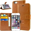 caseen - Ottimo Apple iPhone® 6 Leather Wallet Case w/ Credit Card Pockets, Kickstand - Brown