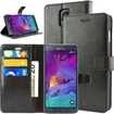 caseen - Ottimo Samsung® Galaxy® Note 4 Leather Wallet Case w/ Credit Card Pockets, Kickstand - Black
